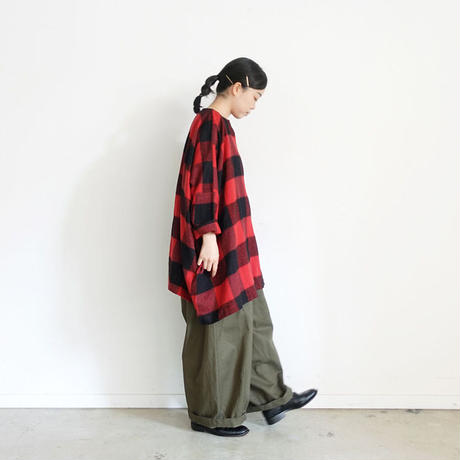 ichi 200619 Cotton Wool Check Pullover / 2 COLORS