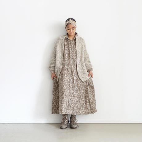 ichiAntiquités 600361 Snow nep Knit Cardigan  /  A : NATURAL