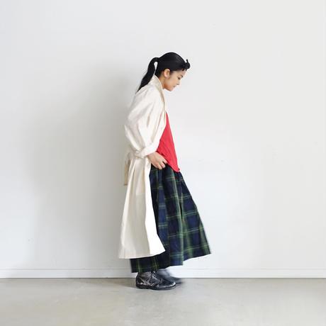 ichiAntiquités 500314 LinenTartan Skirt / GREEN