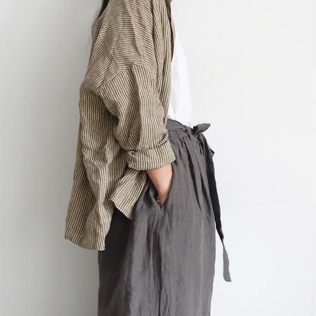 ichiAntiquités 600136 Linen KOTOHIRADAKI Pants / C : CHARCOAL