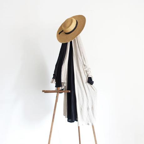 ichiAntiquités 600948 Linen Long Robe Cardigan / A : NATURAL