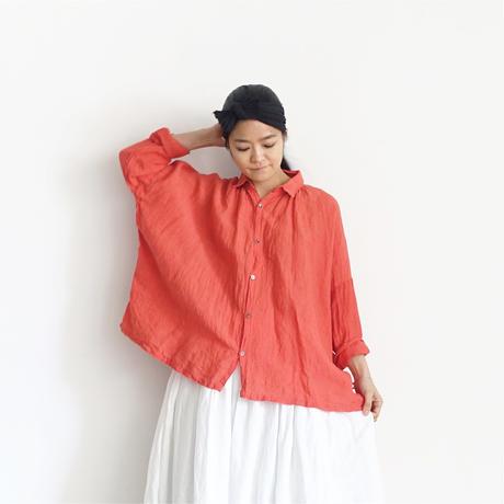 ichiAntiquités 600909 Color Linen Shirt / 2 COLORS : RED・BLACK