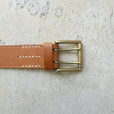 ichiAntiquités 500000 Leather Belt / BROWN