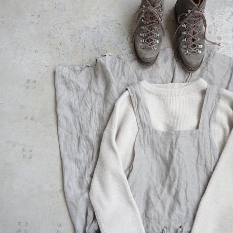 ichiAntiquités 100626 Linen Herringbone 2way Dress / GREIGE