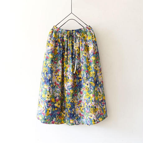 ichi 201120 Painting Flower Skirt / 2 COLORS