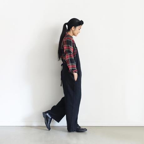 ichiAntiquités 600615 Linen Tartan Shirt  / A : BLACK