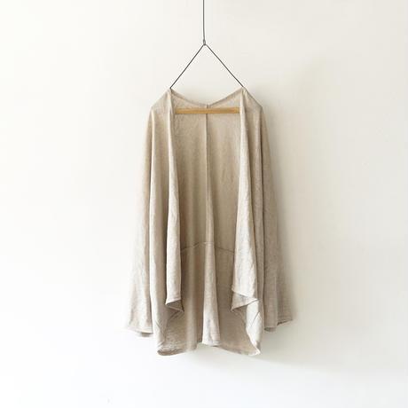 ichiAntiquités 601259 Linen Robe Cardigan / A : NATURAL