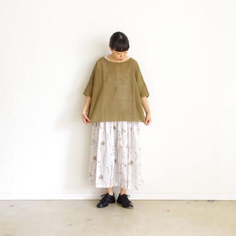 ichi 190363 Linen Cotton Knit Pullover / 2 COLOR