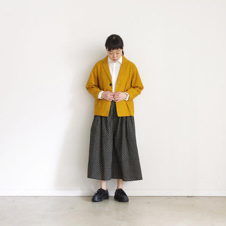 i c h i 181209 Cotton Typewriter Jacket / Mustard
