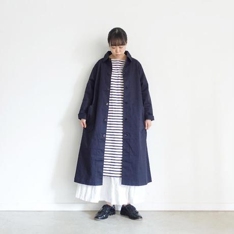 ichi 200520 CLEANSE Chino Coat / C : NAVY