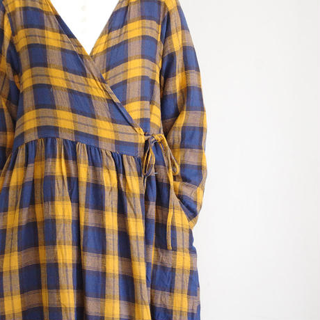 ichi 190505 Tartan Check Cache-coeur One Piece / YELLOW・GRAY