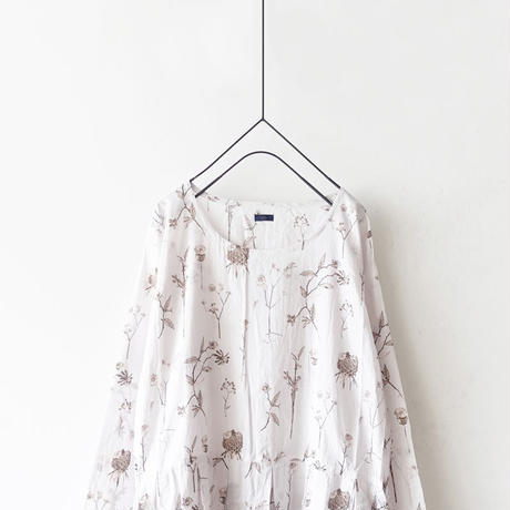 ichi 190417 Flower Print One-Piece / NATURAL