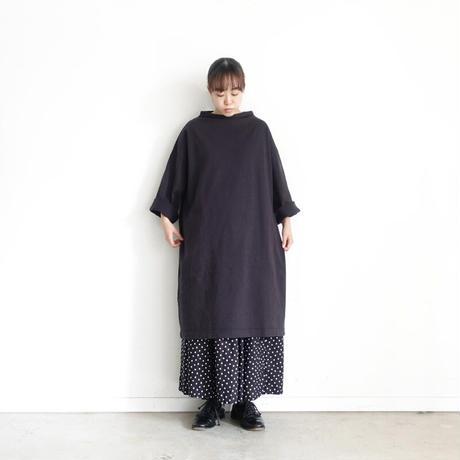 ichi 210441 Cotton Long Pullover / D : BLACK