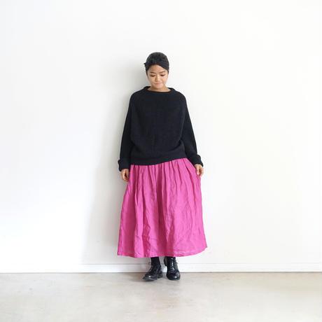 ichiAntiquités 500326 Italy Linen  Skirt / PINK