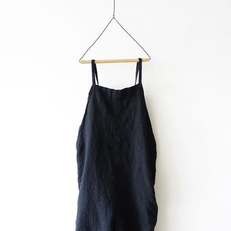 ichiAntiquités 500924 Linen Salopette / BLACK
