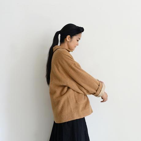 ichiAntiquités 600638 Wool Alpaca Mosser Jacket / A : CAMEL