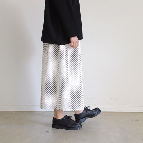 i c h i 181009 Dot Wide Pants  / White