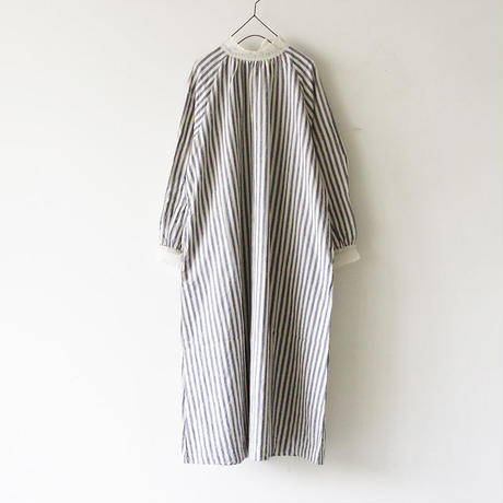 i c h i 181024 C/L Stripe Dress / Blue