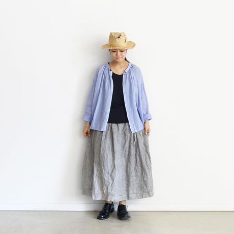 ichiAntiquités 600130 Linen AZUMADAKI Shirt / B : LAVENDER