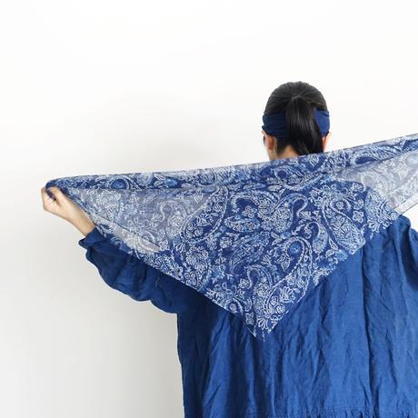 ichiAntiquités 100372 INDIGO Silk Stole / CHIFFON INDIGO