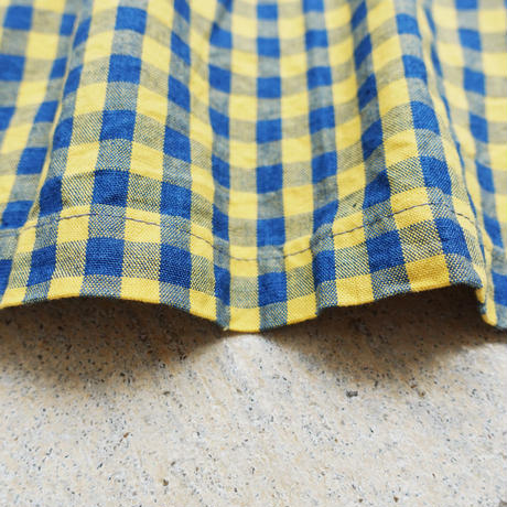 ichi 190422 Indigo Gingham Cache-coeur One Piece / YELLOW GINGHAM