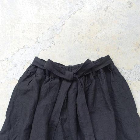 ichiAntiquités 600136 Linen KOTOHIRADAKI Pants / D : BLACK