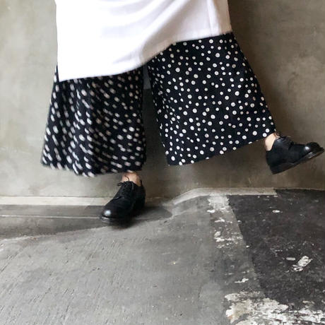 """LIMITED COLLECTION"" i c h i 201114 Random Dots Pants / D : BLACK × WHITE DOT"