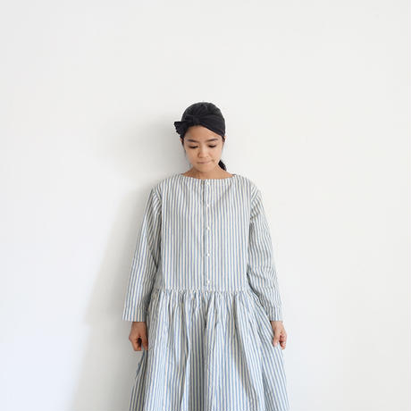 ichiAntiquités 500614 INDIGO Selvage Stripe Dress / BLUE