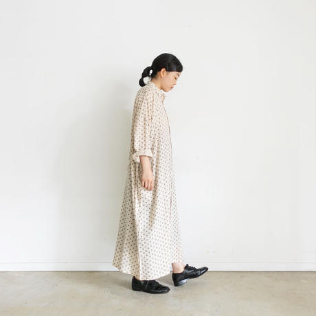 ichi 200308 Dot Shirt One Piece / NATURAL