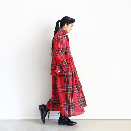ichiAntiquités  700321 Wool Tartan Jacket / A : RED