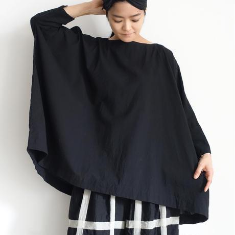 ichiAntiquités 601230 Cotton AZUMADAKI Over Blouse / D : BLACK