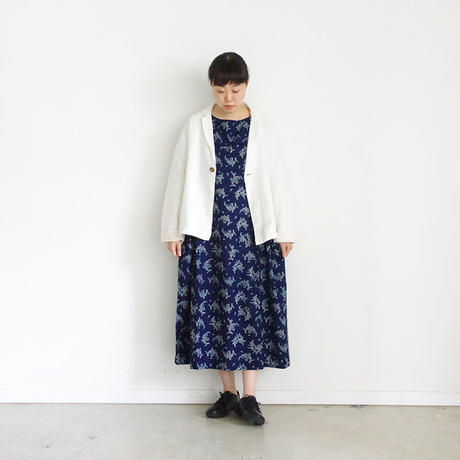 i c h i 181216 Indigo Flower Dress