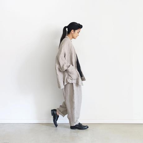 ichiAntiquités 600330 Linen AZUMADAKI Short Robe / A : NATURAL