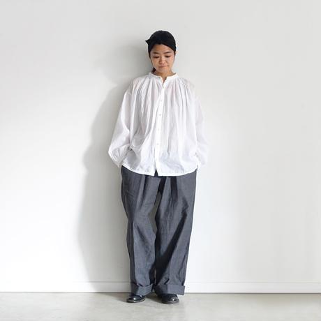 i c h i  201025 Volume Pintuck Shirt / 3 COLORS