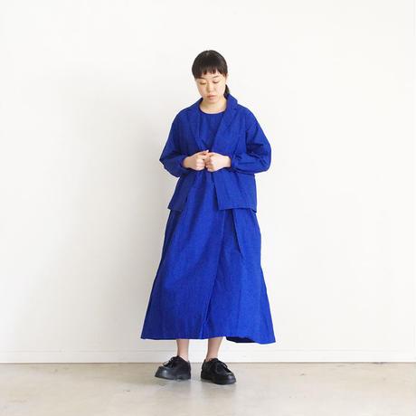 i c h i 181209 Cotton Typewriter Jacket / Blue