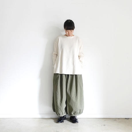 ichi 190939 Balloon Pants / KHAKI・CAMEL