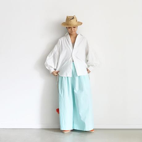 【ONLINE LIMITED】ichiAntiquités 600938 Cotton AZUMADAKI Relax Pants + BAG / C : MINT