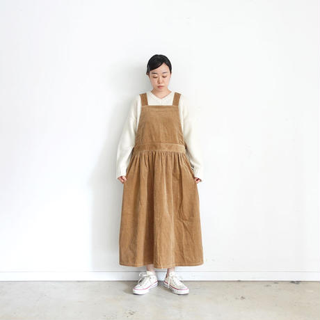 ichi 200443 Corduroy Apron One Piece / 3 COLORS