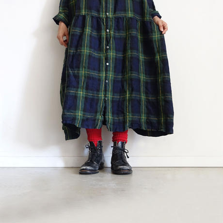 Loiter L019 Linen Color Rib Socks / 3 COLORS : WHITE・YELLOW・RED