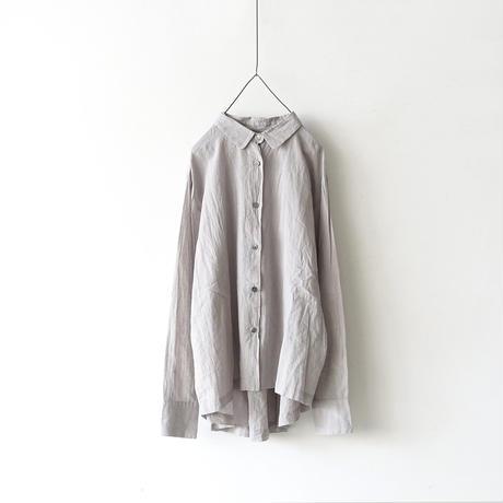ichiAntiquités 100905  Cotton AZUMADAKI Shirring Shirt / BAMBOO