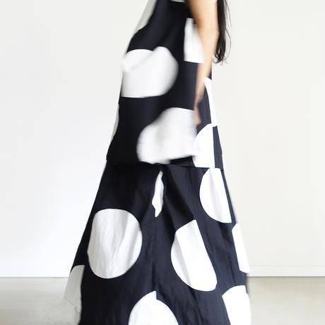 ichi 210110 Big Dot Skirt / 2 COLORS