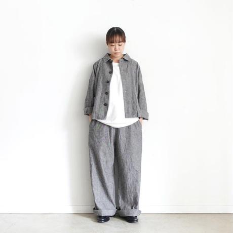 ichi 210419 Cotton Linen Jacket / 2 COLORS