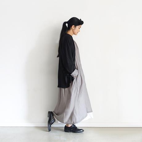 【ONLINE LIMITED】ichiAntiquités 600947 Linen Robe Cardigan / D : BLACK