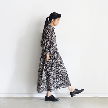 ichiAntiquités 601206 Linen Flower Shirt Dress / 2 COLORS : CAMEL・BLACK