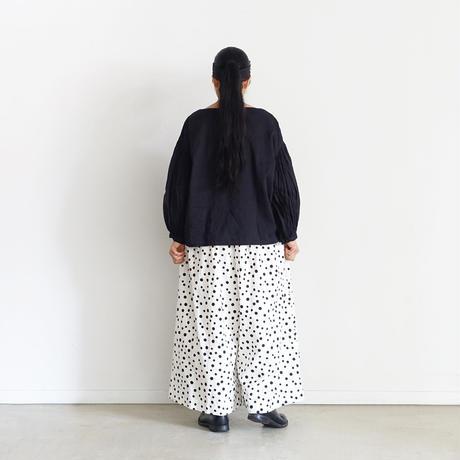 """LIMITED COLLECTION"" i c h i 201114 Random Dots Pants / A : WHITE × BLACK DOT"