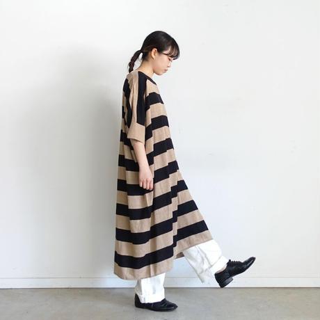ichi 201254 Linen Border Knit One Piece / 2 COLORS