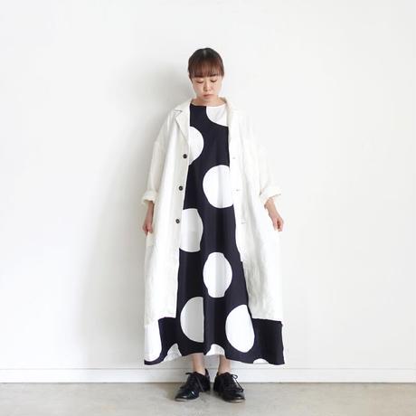 ichi 210109 Big Dot One Piece / B : BLACK × WHITE DOT