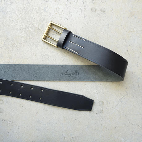 ichiAntiquités 500000 Leather Belt / B : BLACK
