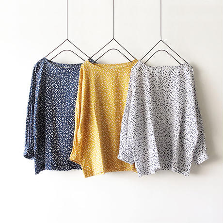 i c h i 190101 Dot Pullover / Gold x White