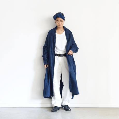 ichiAntiquités 600935 INDIGO Linen Denim Robe /  B : DARK